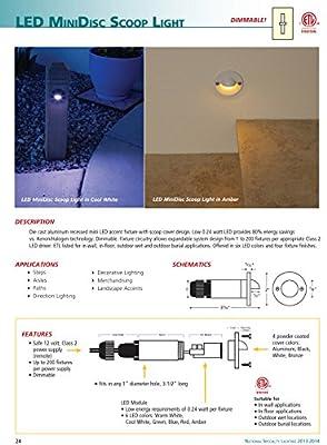 MiniDisc Scoop LED Step Light Bronze Finish Cool White LED's