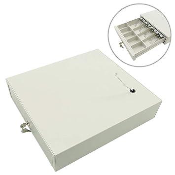 BeMatik - Cajón portamonedas Beige automático RJ11 para Impresora TPV POS para Billetes y Monedas