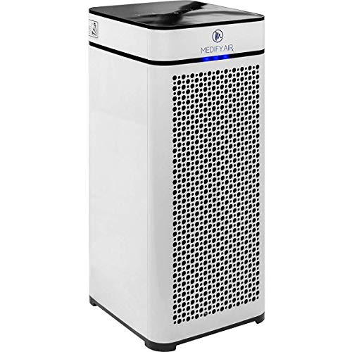 Medify MA-40 Medical Grade Filtration H13 True HEPA for 800 Sq. Ft. Air Purifier, 99.97% Removal with Particle Sensor and Modern Design - White