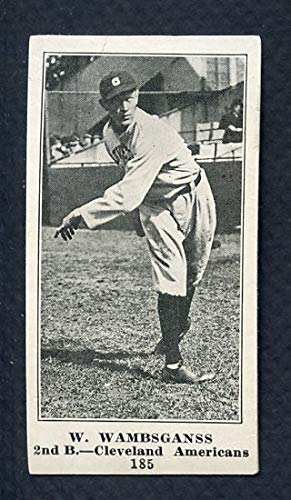 1916 M101-4 Sporting News #185 Bill Wambsganss Indians Rebacked 361217 Kit Young Cards