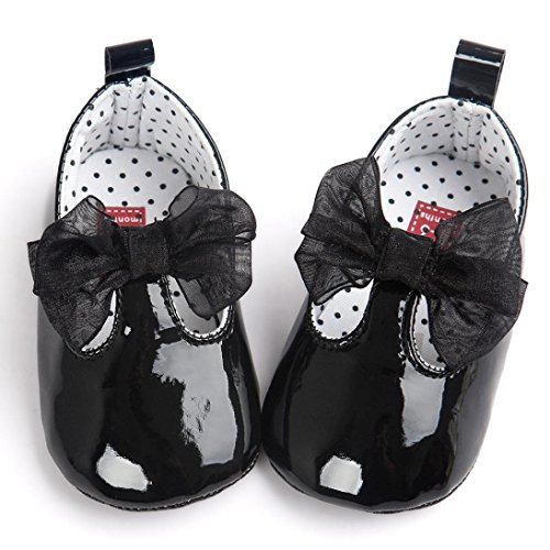 First Walking Shoes Baby Girls Longra New Born Baby Girls Bowknot Decoration Anti slip Sole Baby Shoes