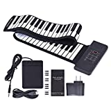 Andoer Portable Silicon 88 Keys Hand Roll Up Piano Electronic USB Keyboard Built-in Li-ion Battery and Loud Speaker with One Pedal
