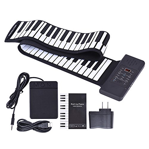 ammoon Portable Silicon 88 Keys Hand Roll Up Piano Electroni