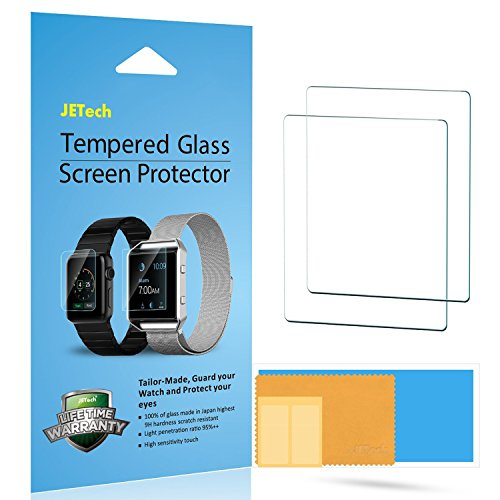 JETech 2-Pack Screen Protector for Apple Watch 38mm Series 1 2 3 Tempered Glass