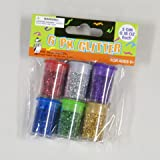 Glitter 6 pack assorted Colors in Jars 96 pcs sku# 409091MA