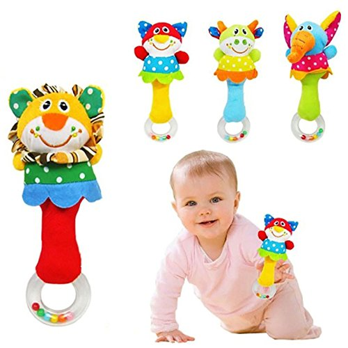 [Animal Handbells Musical Developmental Toy Bed Bells Kids Baby Soft Toys Rattle] (Baby Blocks Musical Mobile)