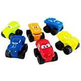 Boley Toys Toddler Mini Movers - 6 Pack Assorted Toy Car Set Eyes Unique Designs - Sports/Race Cars, Trucks, Vans Boys Girls, Kids Toddlers - Ideal Stocking Stuffers!