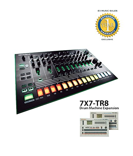 Roland TR-8 Rhythm Performer and Roland 7X7-TR8 Drum Machine Expansion Bundle with 1 Year Free Extended Warranty by Roland