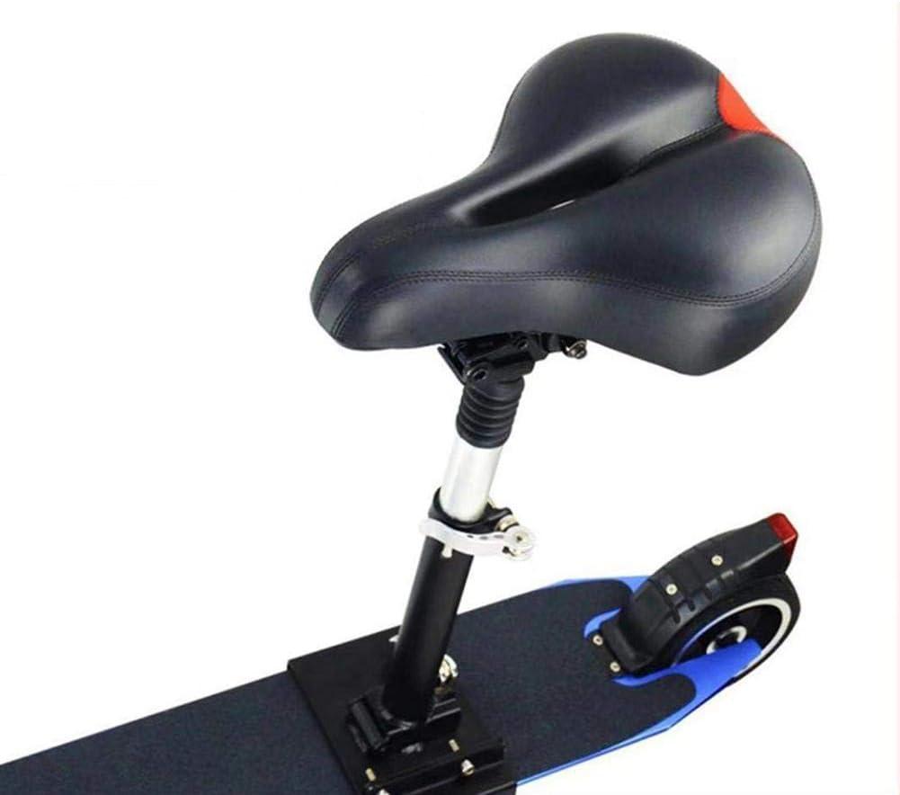 Funihut - Sillín eléctrico de tabla con ruedas, plegable, altura regulable, absorbente, silla plegable de asiento, para patinete eléctrico unisex y adulto