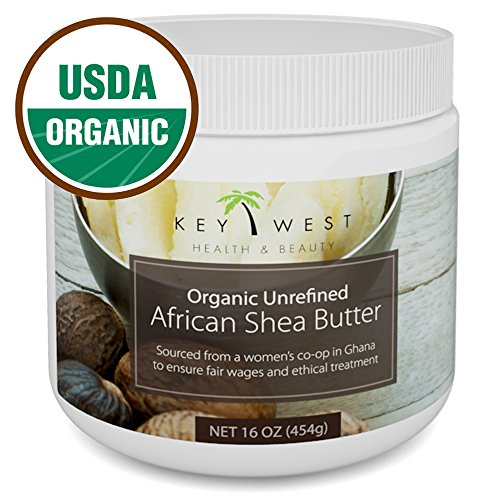 (Shea Butter Organic African Raw - 16 oz & USDA Certified)