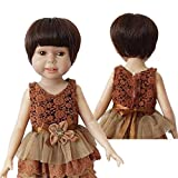 Wigs Only!Cute Bob Wigs with Straight Full Bangs fit 18'' height American Girl Doll Heat Resistant Doll's Hair