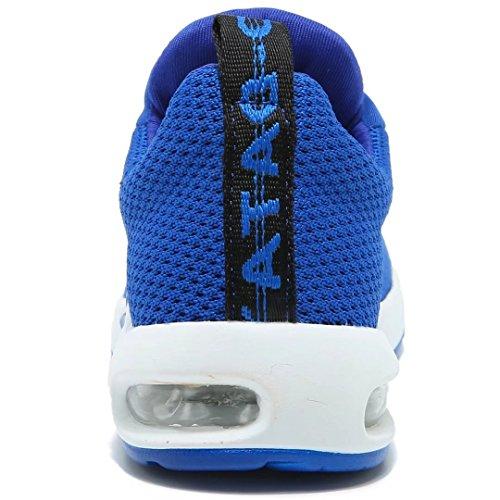 BODATU Kids Boys Running Shoes Comfortable Fashion Light Weight Slip on Cushion(10, Blue) - Image 4