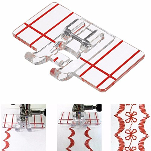 Antiparallel Sew Instrument - Sewing Machine Parallel Stitch Tool Simple Plastic Foot Multifunction Domestic - Synchronic Run Prick Duplicate Puppet Nonintersecting Analog - 1PCs by Unknown
