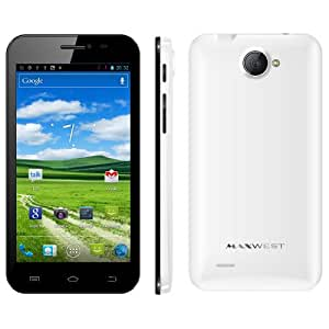 """Maxwest Orbit 5400 5"""" qHD ips screen Unlocked Android 4.1 OS 3G T-Mobile & AT&T, Dual Core, Dual Sim - White includes phone case"""