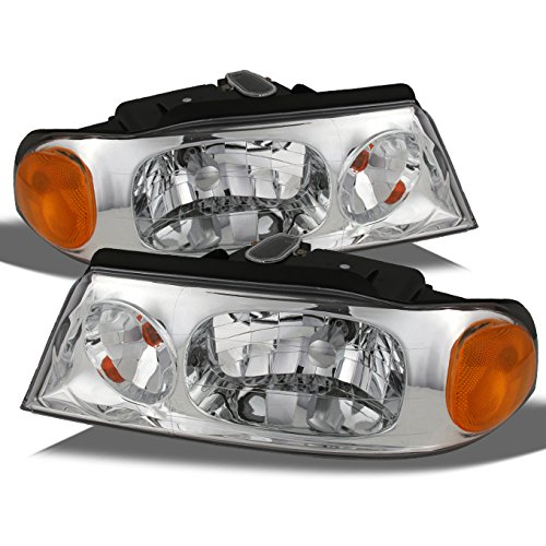 For Lincoln Navigator OE Replacement Chrome Bezel Headlights Driver/Passenger Head Lamps Pair New
