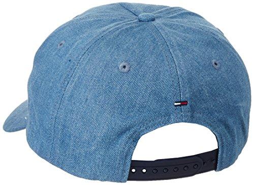 Hilfiger Denim Herren Baseball Thdm Cap 14, Blau (Mid Indigo 412), One size (Herstellergröße: OS)