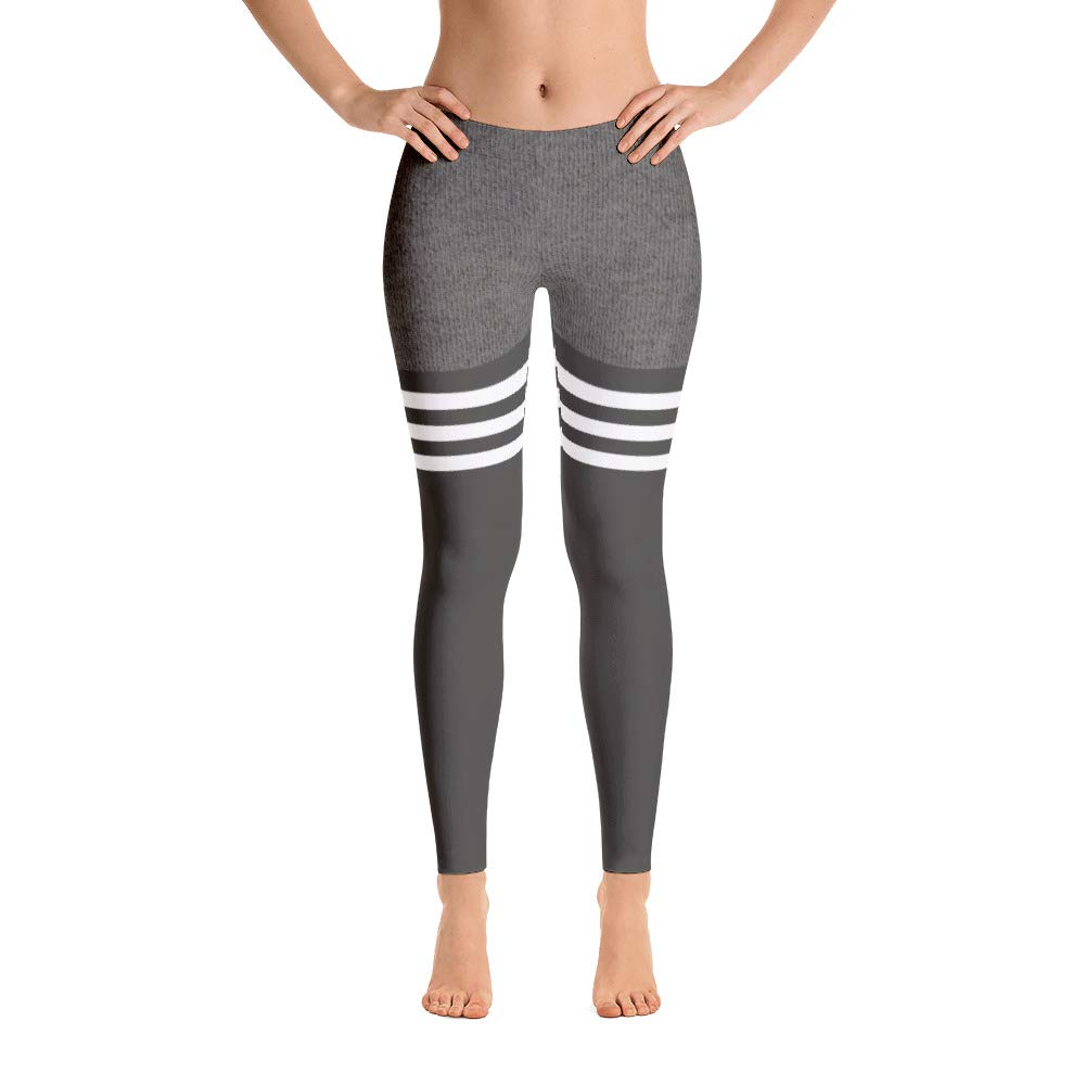 Thigh High Gray Leggings (X-Large)
