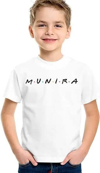 Amal T-Shirt for Boys, Size 28 EU, White