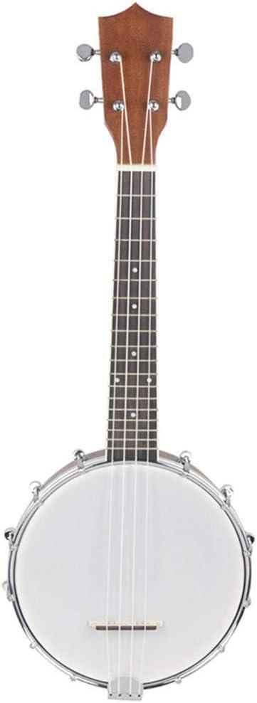 CuteLife Guitarra acustica Banjo Sapele de Madera de Caoba 4 Cuerdas de Nylon Cuerdas Ukulele Mate de 23 Pulgadas Hawaii Guitarra (Color : As Shown, Size : 23inch)