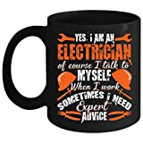 i am awesome cup - I Am An Electrician Coffee Mug, Awesome Electrician Coffee Cup (Coffee Mug 11oz - Black)