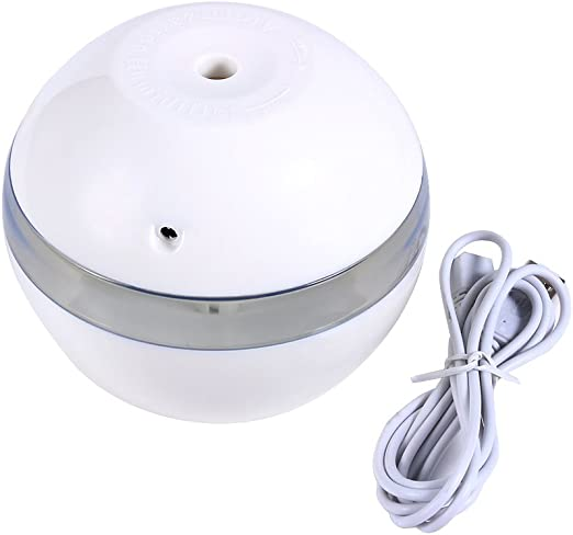 Mini humidificador USB Zerodis purificador de difusor de Aroma de Forma de Rosa port/átil m/ás Fresco para Uso de Viajes en el hogar de la Oficina