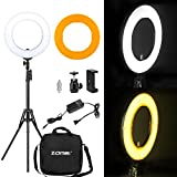 Zomei 14'' LED Ring Light with Light Stand- 41W 5500K Dimmable Lighting Kit with Phone Adapter for Smartphone for Youtube Video, Makeup, Portrait