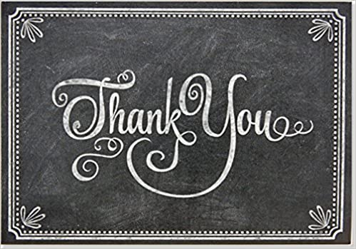 Chalkboard Thank You Notes (Stationery, Note Cards, Boxed Cards