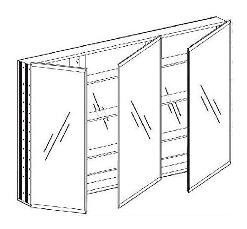 Broadway Triple Door Medicine Cabinet (36 in. W x 30 in. H) by Afina (Image #1)