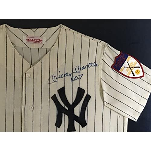 size 40 03467 96636 free shipping Mickey Mantle Signed Jersey - Magnificent No 7 ...