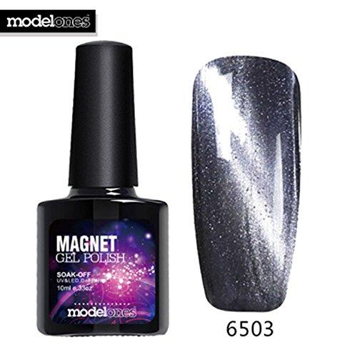 Modelones 10 ml. Change Color Magnet Top Coat UV Nail Gel Po