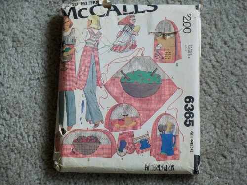 - McCALL'S Pattern #6365 ***KITCHEN PACKAGE W/BLUE TRANSFERS FOR APPLIQUES***