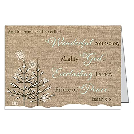 Amazon christmas cards burlap country chic everlasting god christmas cards burlap country chic everlasting god scripture merry christmas cards m4hsunfo