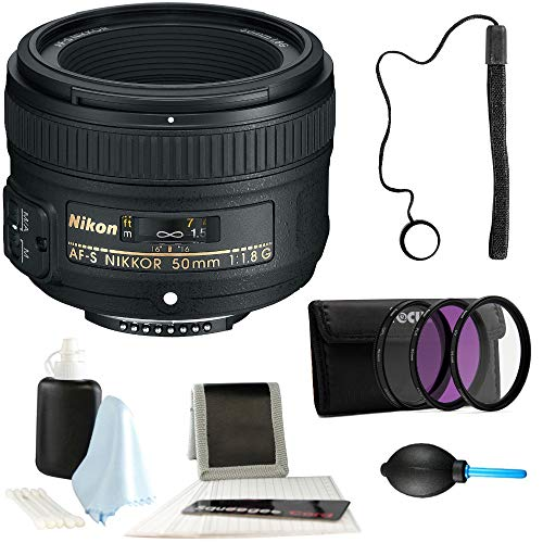 Nikon AF-S Nikkor 50mm f/1.8G Lens + 58mm Filter Kit + Dust Blower + Card Wallet + Accessory Kit