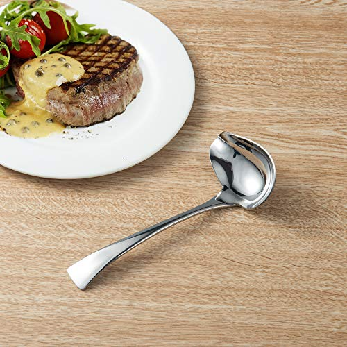 IMEEA 7inch 18/10 Stainless Steel Sauce Drizzle Spoon with Spout (Drizzle Spoon)