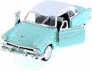Welly 1953 Ford Crestline Victoria, Turquoise w/ White 22093WBU - 1/24 Scale Diecast Model Toy Car