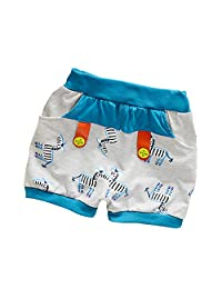NIUNIUTU Kids Baby Shorts Cotton Cartoon Loose Printing Pockets Short Pants for Girls Boys