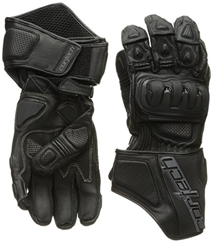 Cortech Impulse RR Men's Leather Racing Motorcycle Gloves (Black, Medium) ()
