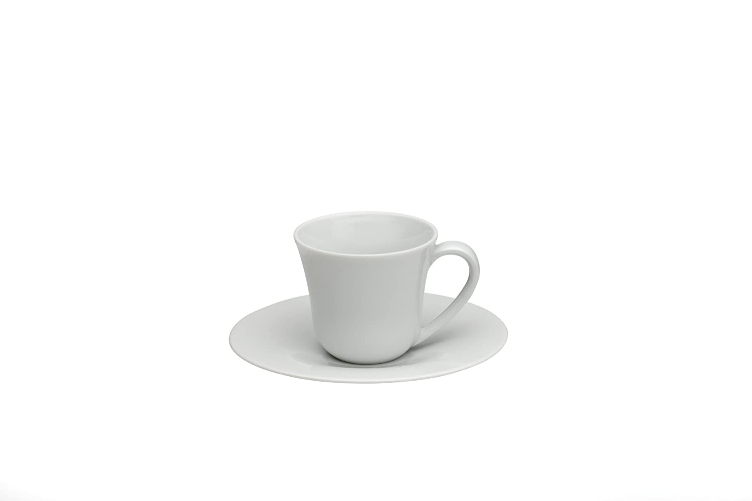 Alessi Ku Mocha Cup and Saucer Set of Two