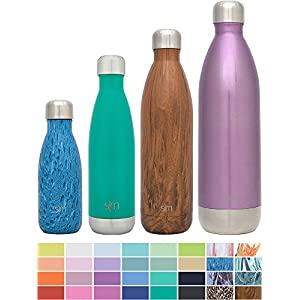 Simple Modern Stainless Steel Vacuum Insulated Double-Walled Wave Bottle, 17oz - Watermelon Green