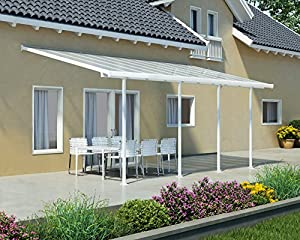 Palram Pergola Patio Cover Feria 3 X 6.10m With Robust Structure For  Year Round Use   White
