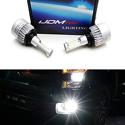 iJDMTOY (2) Extremely Bright 6500K Xenon White 2000 Raw Lumen C6 LED Fog Light Replacement Bulbs For 1999-up Ford F-150 F-250 F-350 or Raptor Truck