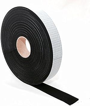 Qualit/é sup/érieure En caoutchouc mousse Largeur/: 5 mm /à 70 mm Cellulose autocollante /Épaisseur/: 1 /à 6 mm Longueur/: 10 m noir Ruban d/étanch/éit/é de caoutchouc EPDM