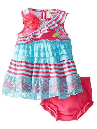 Rare Editions Counting Daisies Eyelash Lace Floral Dress Set (12m-24m) (18 months)