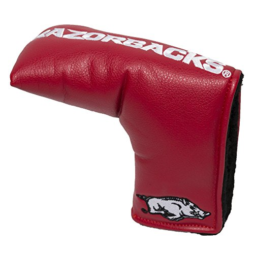 Arkansas Razorbacks Headcover - Team Golf NCAA Arkansas Razorbacks Golf Club Vintage Blade Putter Headcover, Form Fitting Design, Fits Scotty Cameron, Taylormade, Odyssey, Titleist, Ping, Callaway
