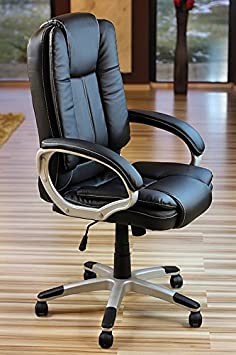 eMarkooz Manager Chair Executive Chair office Chair Boss Chair Swivel Leather Computer Desk Chair Boss Extra Padded TM
