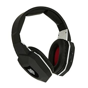 TOOGOO(R)Fibra optica 2.4G Auricular Inalambrico Auriculares para juegos por Jugar por Xbox One / Xbox 360 / PS4 Juegos con microfono desmontable Negro: ...