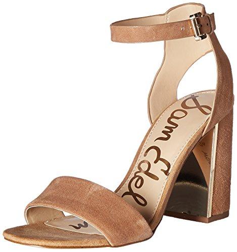 Sam Edelman Womens Synthia Dress Sandal Golden Caramel Suede