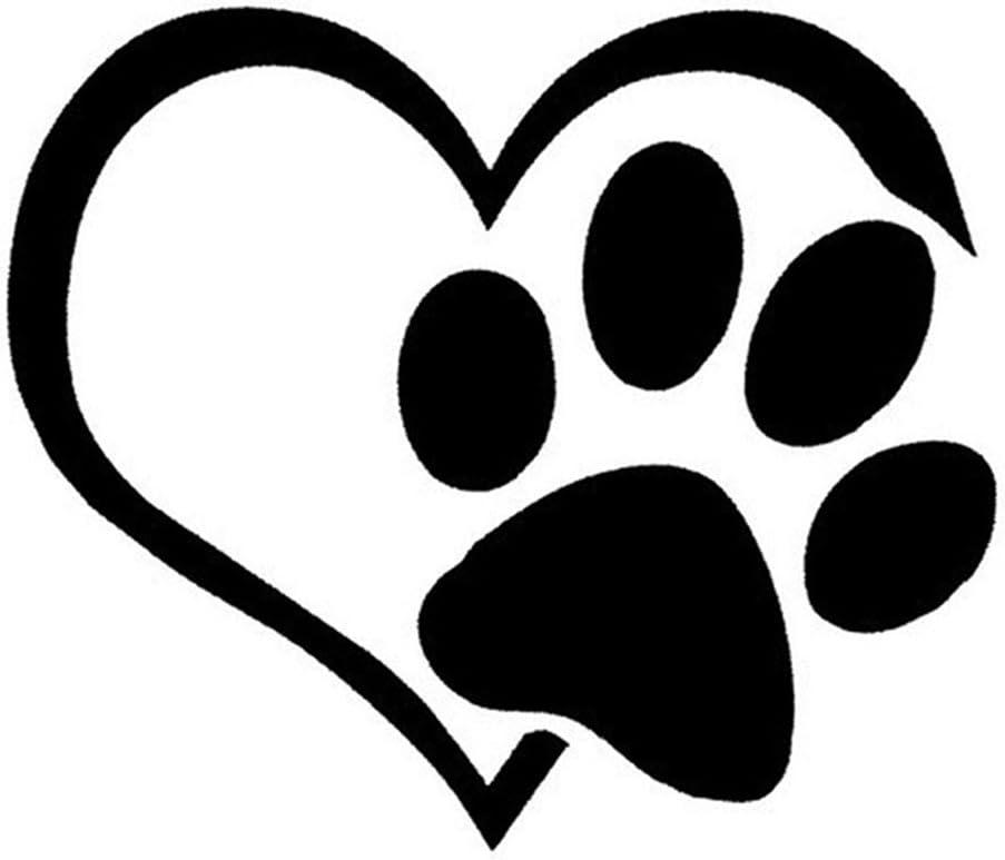 Car Sticker Dog Cat Paw Print Heart Window Bumper Vinyl Decal Waterproof
