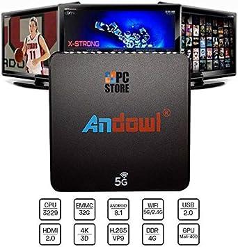 PC Store Smart TV Box andowl Q M6 Android 8.1 4 K GB RAM 32 GB ROM IPTV 5 G Dual Band: Amazon.es: Electrónica