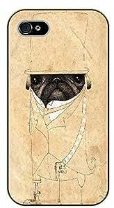 Diy design iphone 6 (4.7) case, iPhone 6 Dog nose. Sephia - black plastic case / dog, animals, dogs